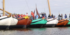 Skûtsjes op het Lauwersmeer