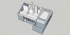 Voorbeeld van een digitale maquette in Sketchup